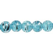 Glaspärlor Fashionmix dia 8 mm Turkos 88 st