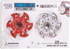 Fidget Spinner, Röd/Vit, Ihopkopplingsbar, 2 st