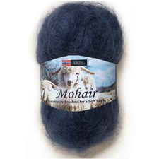 Viking of Norway Mohair Garn Mohairmix 50g Mörkblå 326