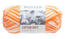 Novita Cotton Soft Color puuvillalanka 50 g aurinko 829