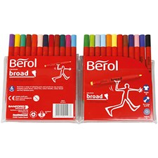 Berol Colourbroad, strektykkelse: 1,7 mm, dia. 10 mm, 24 stk., ass. Farger
