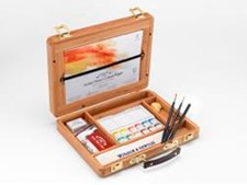 Professional Water Color Akvarellfärg Halv kopp Bamboo Box