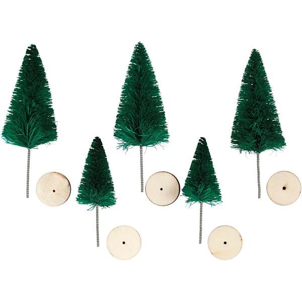 Grantrær, H: 40+60 mm, grønn, 5stk.