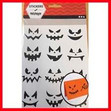 Klistermärken Halloween Små Ansikten 1 Ark