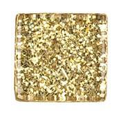 Glasmosaik 10x10 mm Champagne Glitter 185 g