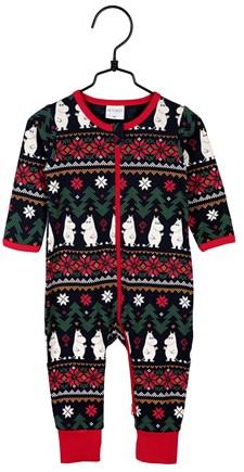 Pyjamas Noel baby, Mörkblå, Strl 68, Mumin
