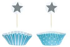 Cupcakekit PARTY, Ljusblå, Jabadabado
