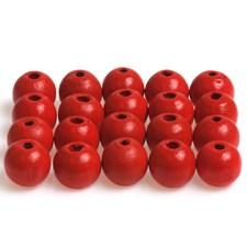 Treperler, dia. 10 mm, hullstr. 3 mm, 20 g, rød