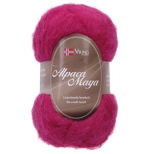 Viking of Norway Alpaca Maya 50 gr Cerise 762