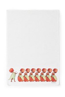 Kjøkkenhåndkle, Elsa Beskow, Jordbærfamilien, 45 x 65 cm, Design House Stockholm