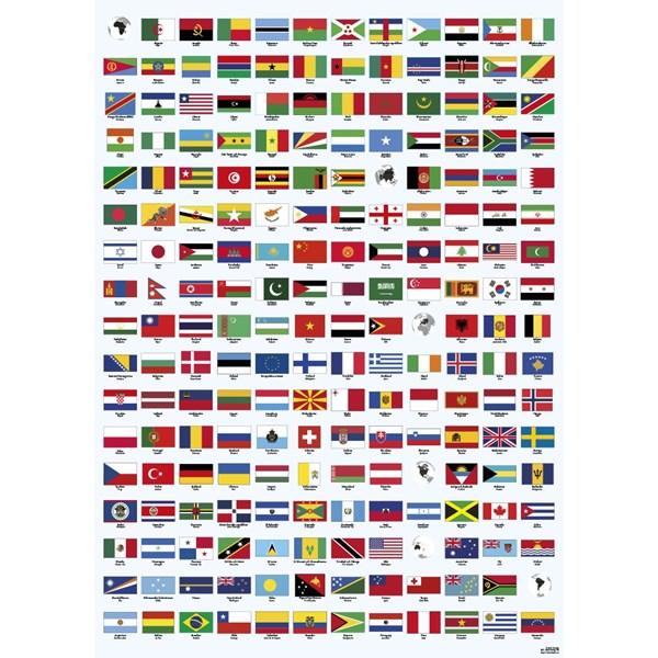 Flaggor affisch  K. Hjelm Förlag AB - barnrumsdekoration