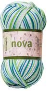 Nova 50gr Petrol/grå/grønn print (48020)