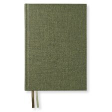 Anteckningsbok A5 Dotted Khaki Green Textil 176 sidor Paperstyle