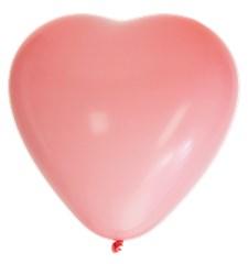 Hjärtballonger Rosa 8-pack