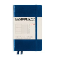 LT DIARY 2019 Weekly Planner/Notebook A6 Navy