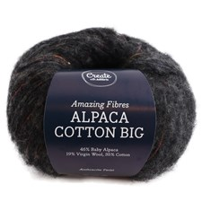 Adlibris Alpaca Cotton Big 50g Anthracite Twist A671