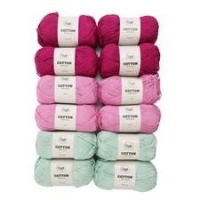 Adlibris Cotton Garn 100g Fin Mormorsruta 12-pack