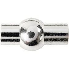 Magnetlås, str. 11x20 mm, hullstr. 4 mm, 1 stk., forsølvet