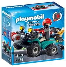Bandit och fyrhjuling med vinsch, Playmobil City Action (6879)
