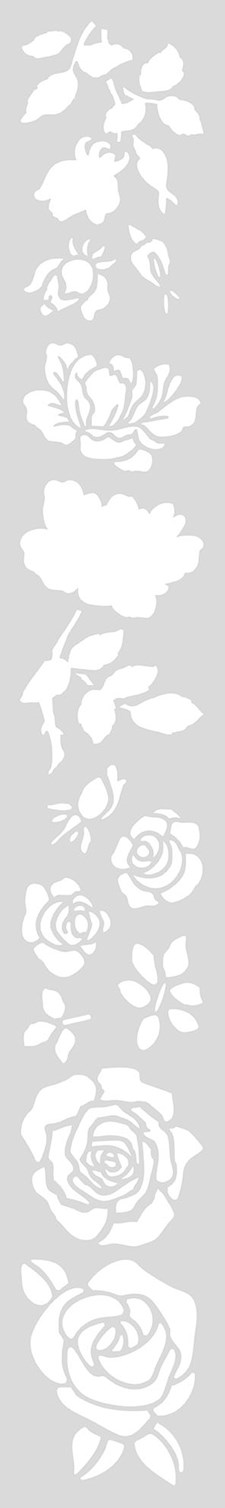Schablon Lång 10,5x70 cm Rosor