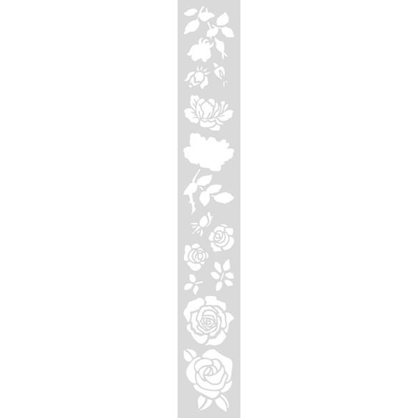 Schablon Lång 10 5x70 cm Rosor  Rico - schabloner