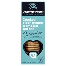 Kent & Fraser Crackers Svartpeppar & Rökt Salt Glutenfri 110 g