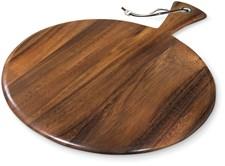 Rundt brett med håndtak, Tre, Ironwood Gourmet
