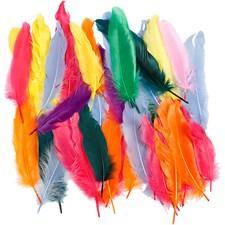 Indianfjädrar 12-15 cm Olika Färger 350 st