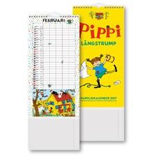 Väggkalender Familj 2017 Pippi Långstrump Burde