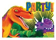 Dinosaurer, Invitasjoner, 8 stk.