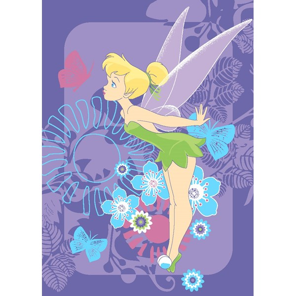 Matta  95x133 cm  Fairies Tink Tropical  Disney - barnmattor