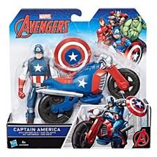 Captain America med motorcykel, 15 cm, The Avengers