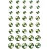 Rhinsten, str. 6+8+10 mm, 40 ass., grønn