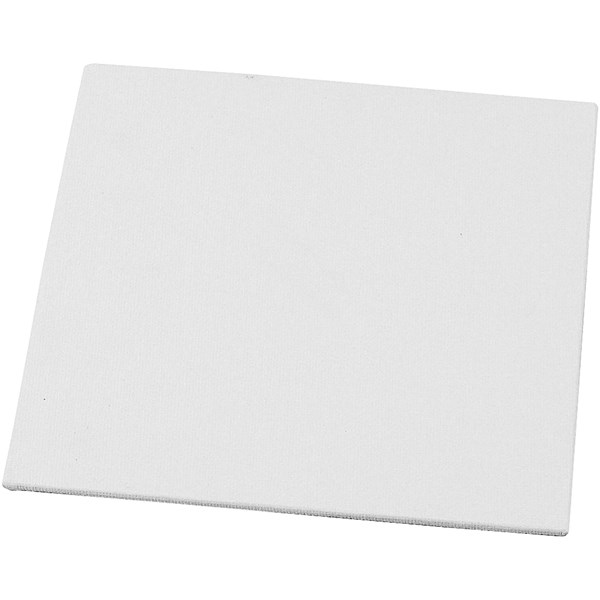Maleplate, str. 15x15 cm, tykkelse 3 mm, hvit, 1stk., 280 g