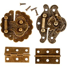 Minibeslag, str. 30-35 mm, antikk gull, 10sett