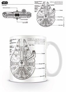Star Wars Mugg Millennium Falcon Ritning