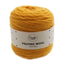 Adlibris Felting Wool 100g Mustard Yellow A102