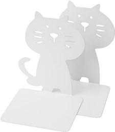 Bokstöd Burde Katt Vitt 2-pack