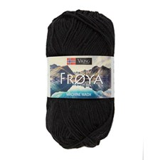 Viking of Norway Froya Garn Ullmix 50g Svart 201