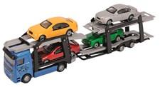 Biltransport med 4 bilar, Dickie toys