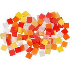 Mosaik Mini 5x5 mm Röd/Orange Harmoni 25 g