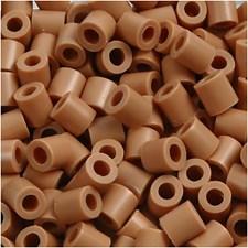 Rørperler, str. 5x5 mm, hullstr. 2,5 mm, 1100 stk., lys brun (20)