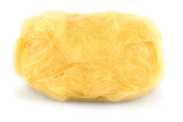 Dale Garn Line Langmo Påfugl Mohair Mix 50 g gul 7908