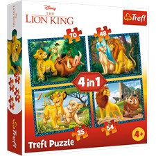 The Lion King and Friends, 4-i-1 Pussel, Trefl