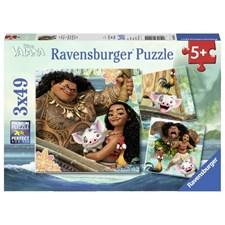 Vaiana?s Voyage, Pussel 3x49 bitar, Ravensburger