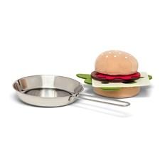 Hamburger med stekepanne, Micki