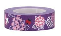 Tejp Blommor 15 mm x 10 m Violett