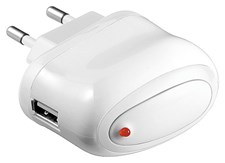 USB- Laddare 2.0 A Vit