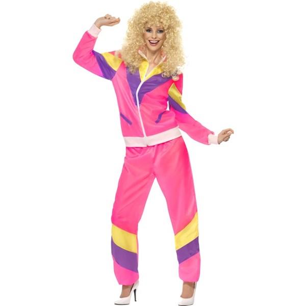 80-talets högsta mode  Rosa träningsoverall 3c958e4f2af0d
