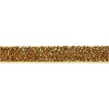 Dekorasjonsbånd, B: 10 mm, 5 m, gull
